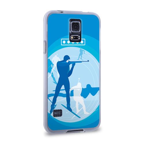 Чехол для Samsung Galaxy S5 силиконовый  Фото 02, Биатлон