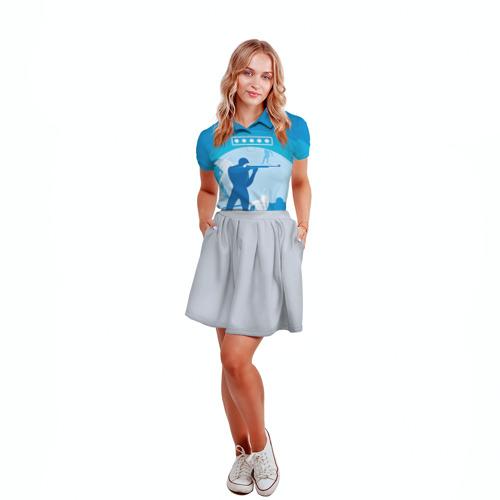 Женская рубашка поло 3D  Фото 04, Биатлон