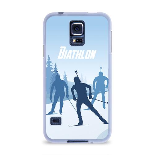 Чехол для Samsung Galaxy S5 силиконовый  Фото 01, Биатлон