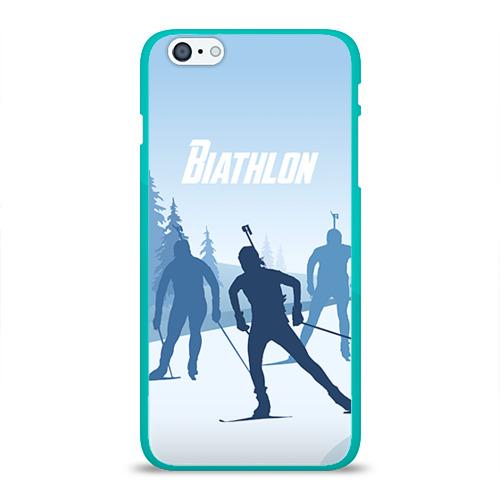 """Чехол силиконовый глянцевый для Apple iPhone 6 Plus """"Биатлон"""" - 1"""