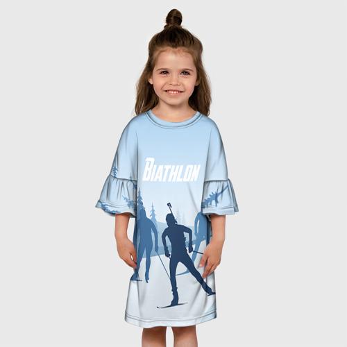 Детское платье 3D  Фото 01, Биатлон