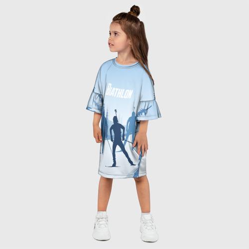Детское платье 3D  Фото 03, Биатлон