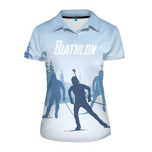 Женская рубашка поло 3D  Фото 01, Биатлон