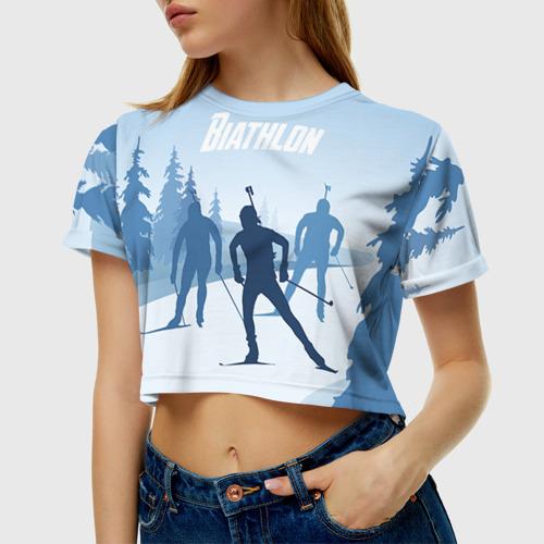 Женская футболка Cropp-top Биатлон