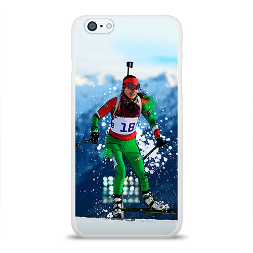 Чехол для Apple iPhone 6Plus/6SPlus силиконовый глянцевый  Фото 01, Биатлон