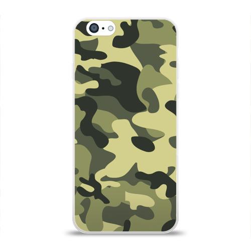 Чехол для Apple iPhone 6 силиконовый глянцевый  Фото 01, Камуфляж Хаки