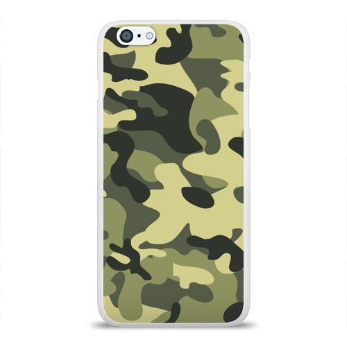 Чехол для Apple iPhone 6Plus/6SPlus силиконовый глянцевый Камуфляж Хаки Фото 01