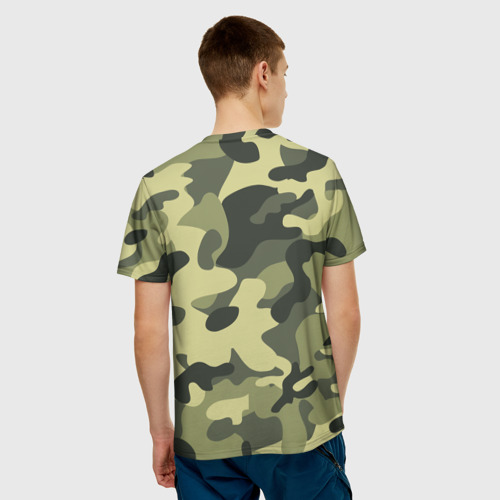 Мужская футболка 3D  Фото 02, Камуфляж Хаки