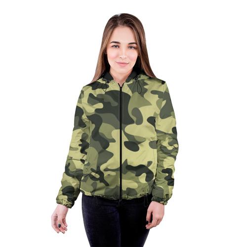 Женская куртка 3D Камуфляж Хаки Фото 01