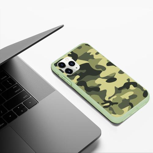 Чехол для iPhone 11 Pro Max матовый Камуфляж Хаки Фото 01