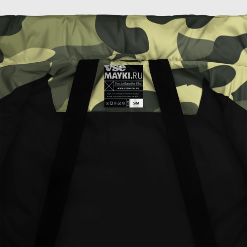 Женская зимняя куртка 3D Камуфляж Хаки Фото 01