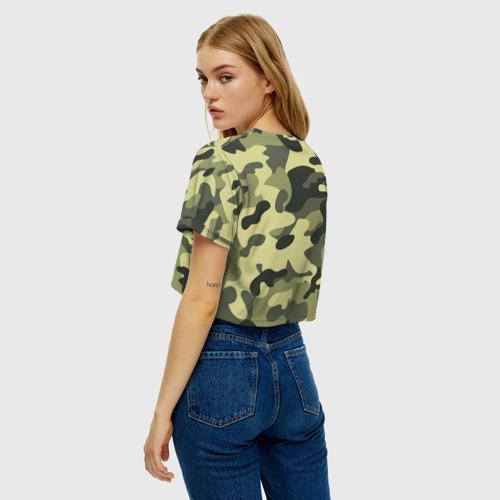 Женская футболка Cropp-top Камуфляж Хаки Фото 01