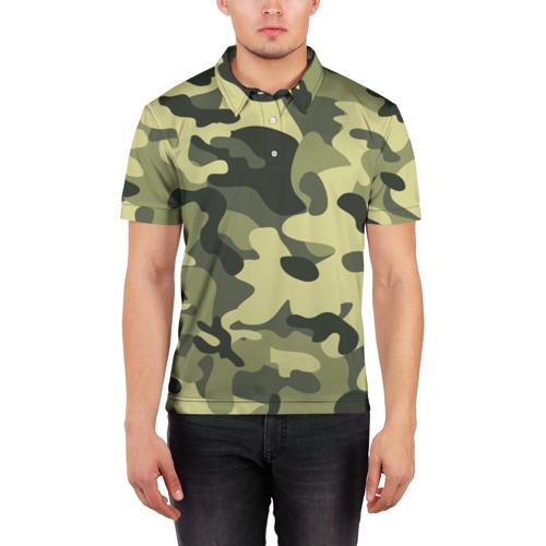 Мужская рубашка поло 3D Камуфляж Хаки Фото 01