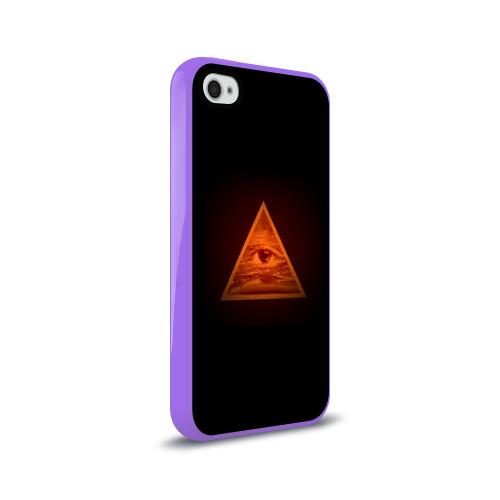 Чехол для Apple iPhone 4/4S силиконовый глянцевый  Фото 02, Пирамида