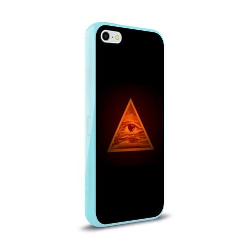 Чехол для Apple iPhone 5/5S силиконовый глянцевый  Фото 02, Пирамида