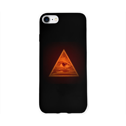Чехол для Apple iPhone 8 силиконовый глянцевый  Фото 01, Пирамида