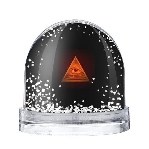 Водяной шар со снегом Пирамида