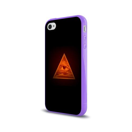 Чехол для Apple iPhone 4/4S силиконовый глянцевый  Фото 03, Пирамида