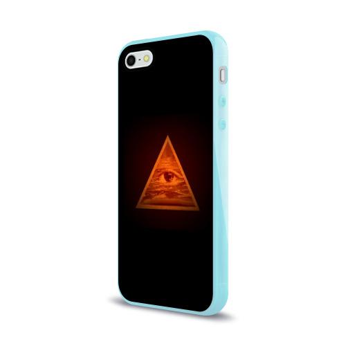 Чехол для Apple iPhone 5/5S силиконовый глянцевый  Фото 03, Пирамида