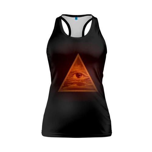 Женская майка 3D спортивная Пирамида