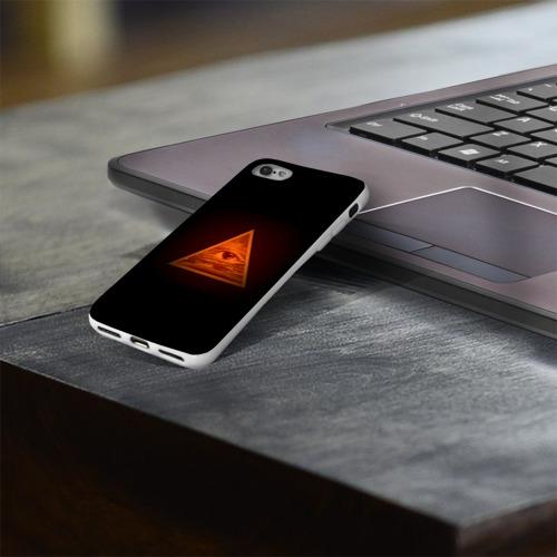 Чехол для Apple iPhone 8 силиконовый глянцевый  Фото 03, Пирамида