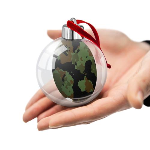 Ёлочный шар  Фото 02, Камуфляж Вельветовый эффект