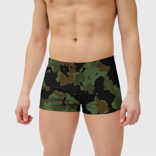 Мужские купальные плавки 3D Камуфляж Вельветовый эффект Фото 01