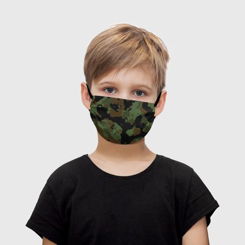 Детская маска (+5 фильтров) Камуфляж Вельветовый эффект Фото 01