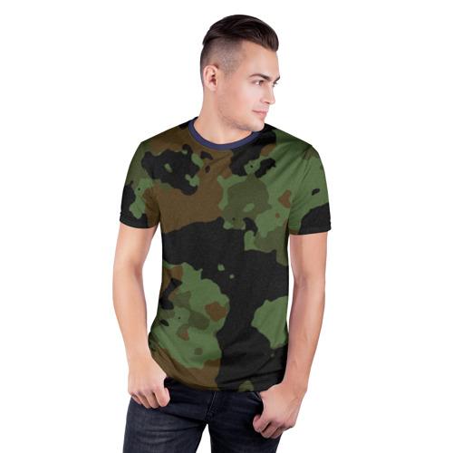 Мужская футболка 3D спортивная Камуфляж Вельветовый эффект Фото 01