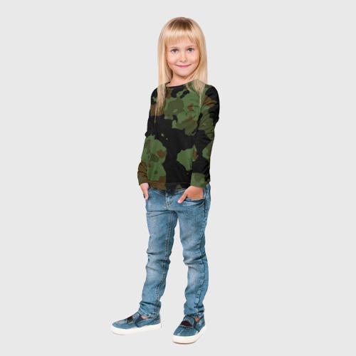 Детский лонгслив 3D Камуфляж Вельветовый эффект Фото 01