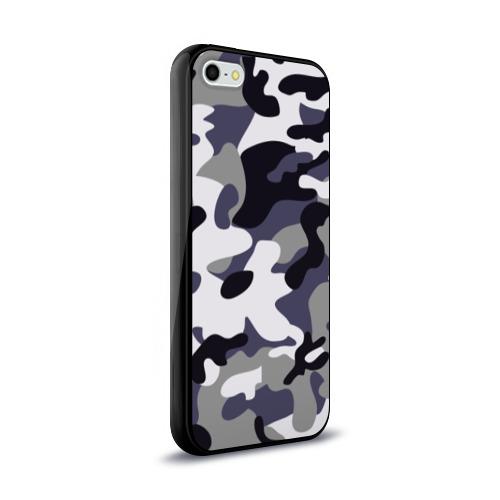 Чехол для Apple iPhone 5/5S силиконовый глянцевый  Фото 02, Городской камуфляж