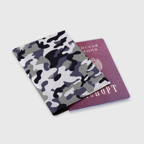 Обложка для паспорта матовая кожа  Фото 03, Городской камуфляж