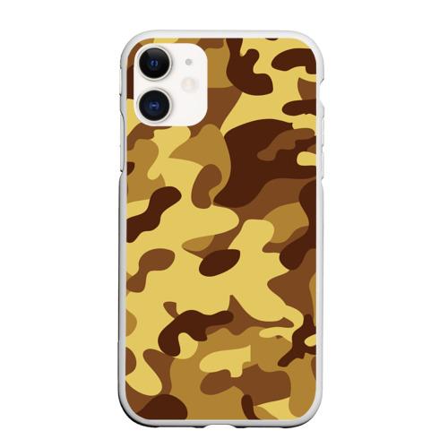 Чехол для iPhone 11 матовый Пустынный камуфляж Фото 01