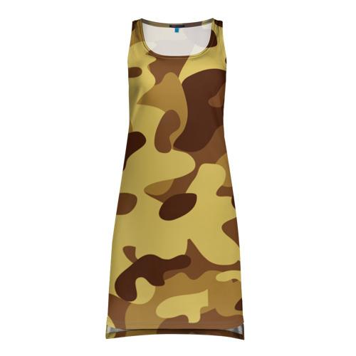 Платье-майка 3D Пустынный камуфляж