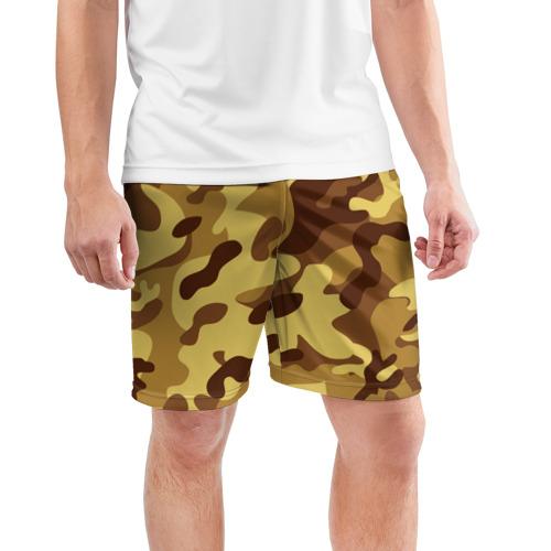 Мужские шорты 3D спортивные  Фото 03, Пустынный камуфляж