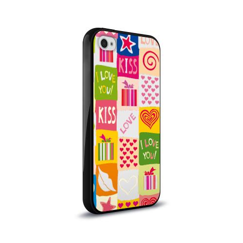 Чехол для Apple iPhone 4/4S силиконовый глянцевый  Фото 02, Love