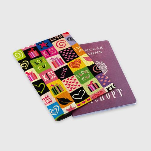 Обложка для паспорта матовая кожа  Фото 03, Love