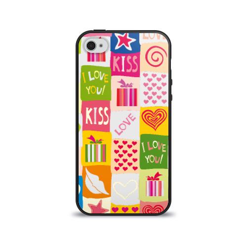 Чехол для Apple iPhone 4/4S силиконовый глянцевый  Фото 01, Love