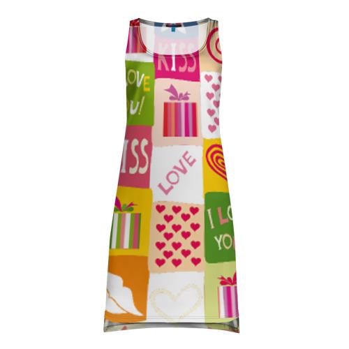 Платье-майка 3D Love
