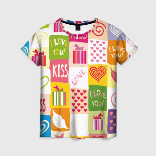Женская футболка 3D Love от Всемайки