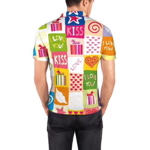 Мужская рубашка поло 3D  Фото 04, Love