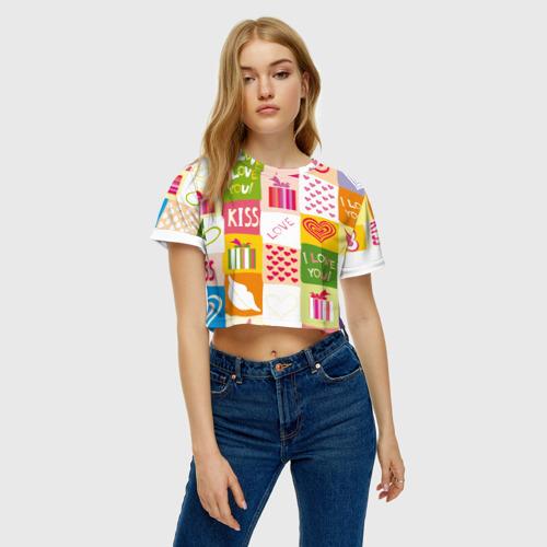 Женская футболка Cropp-top  Фото 04, Love
