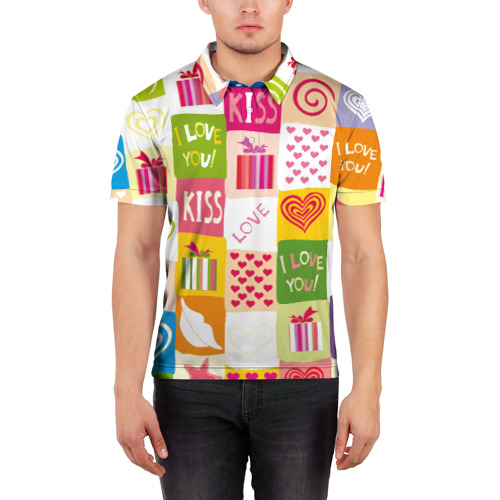 Мужская рубашка поло 3D  Фото 03, Love