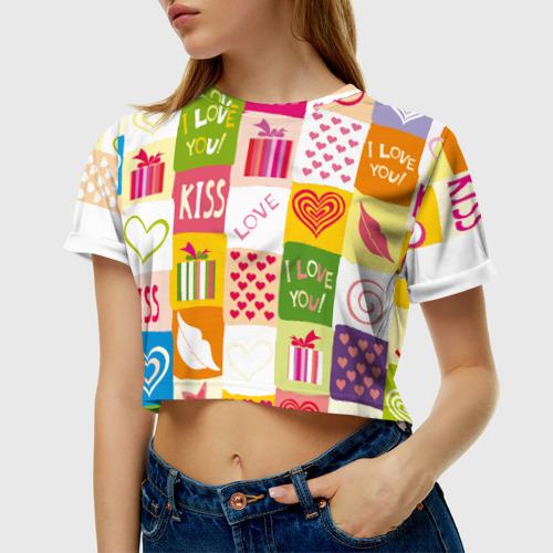 Женская футболка Cropp-top  Фото 01, Love