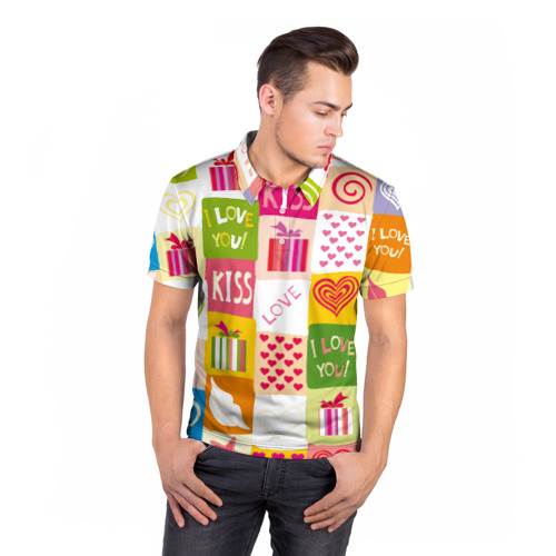 Мужская рубашка поло 3D  Фото 05, Love