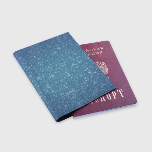 Обложка для паспорта матовая кожа  Фото 03, Снег