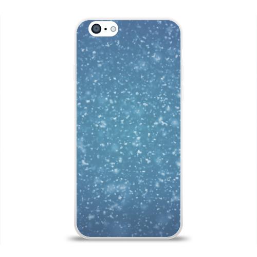 Чехол для Apple iPhone 6 силиконовый глянцевый  Фото 01, Снег