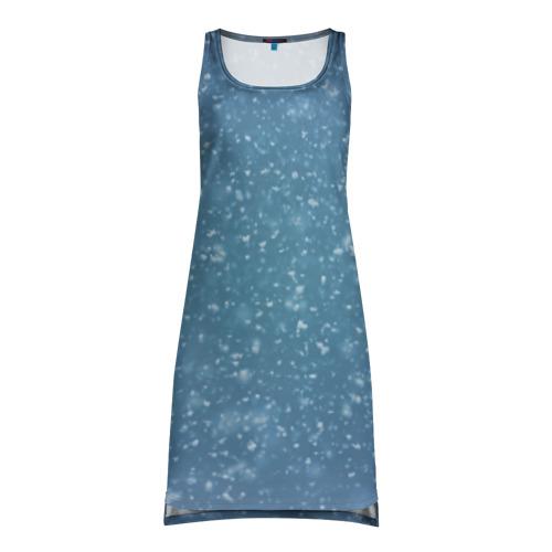 Платье-майка 3D Снег