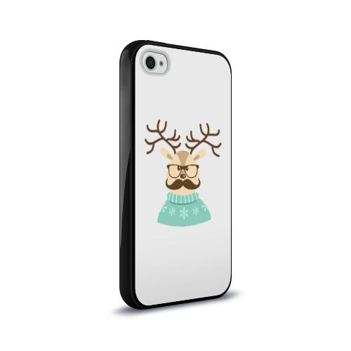 Чехол для Apple iPhone 4/4S силиконовый глянцевый  Фото 02, Олень