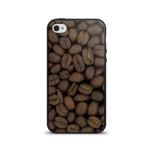 Чехол для Apple iPhone 4/4S силиконовый глянцевый  Фото 01, Кофе